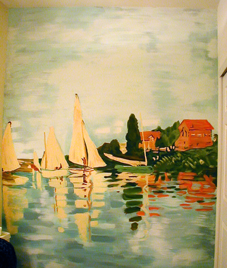 Monet Reproduction acrylic mural